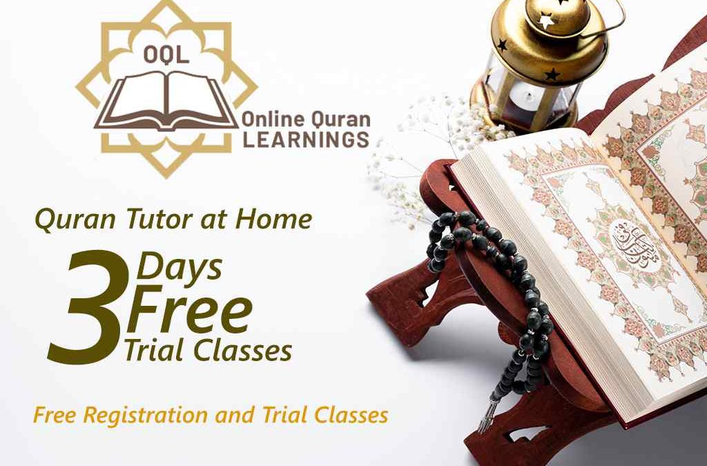 Online Quran Tutor at Home | Free 3 trial classes